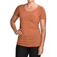 Agave Nectar Lily T-Shirt - Organic Supima® Cotton, Short Sleeve (For Women) in Ginger - Closeouts