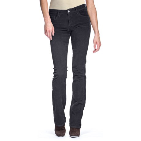 Agave Nectar Linea Newcomb's Ranch Stretch Corduroy Pants - Classic Fit, Baby Bootcut (For Women) in Pewter