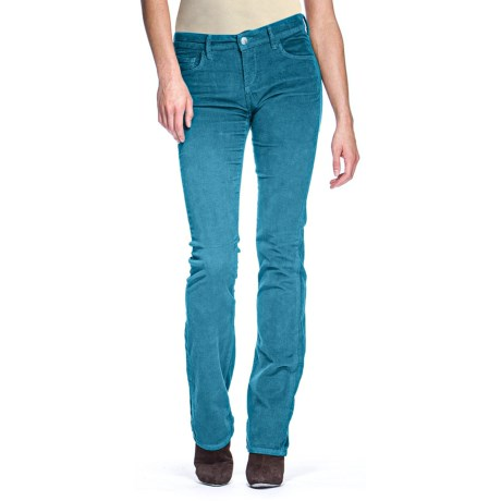 Agave Nectar Linea Newcomb's Ranch Stretch Corduroy Pants - Classic Fit, Baby Bootcut (For Women) in Ocean Depth