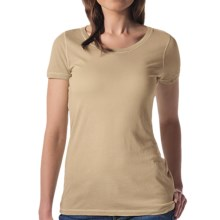 Agave Nectar Orchid T-Shirt - Supima® Cotton-Micromodal®, Short Sleeve (For Women) in Taos Taupe - Closeouts