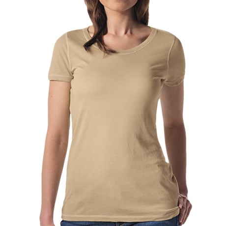 Agave Nectar Orchid T-Shirt - Supima® Cotton-Micromodal®, Short Sleeve (For Women) in Taos Taupe