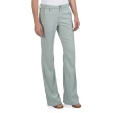 Agave Nectar Patrona Flared Pants - Trouser Fit (For Women) in Green Milieu - Closeouts