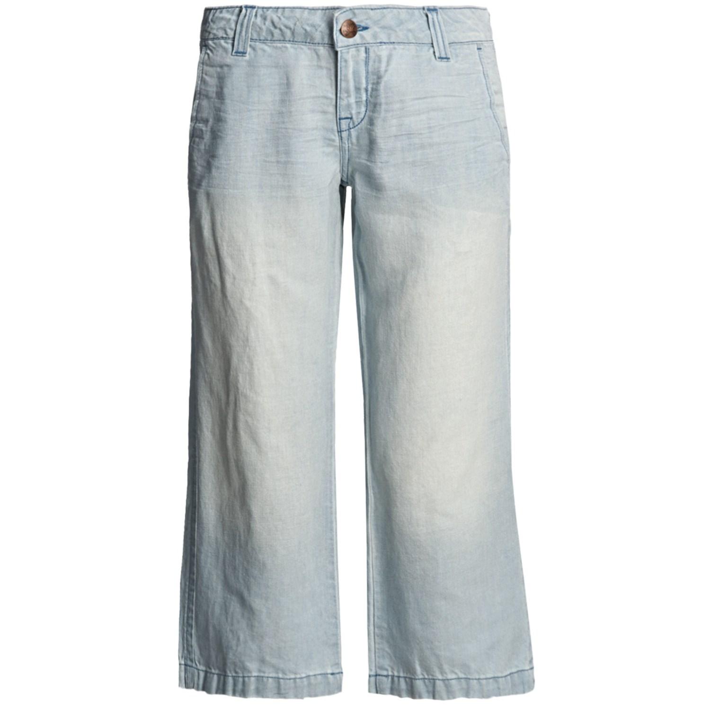 Popular Pulp Stripe Linen Pants For Women  Save 76