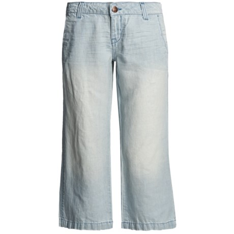 Creative Jockey Womens Cotton Stretch Flare Capri Activewear Capri Pants Cotton Blends | EBay