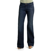 Agave Nectar Sol Kapalua Stripe Jeans - Flex Trouser Fit, Flare Leg (For Women) in Dark Indigo - Closeouts