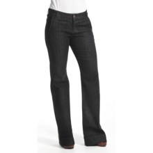 Agave Nectar Sol Mauna Kea Jeans - Stretch Trouser Fit, Flare Leg (For Women) in Black Herringbone - Closeouts