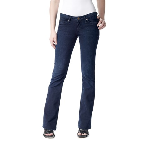 Agave Nectar Vaquera Midnight Jeans - Stretch, Slim Fit, Flared Leg (For Women) in Dark Indigo