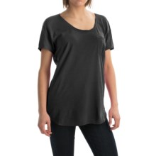 Agave Norina Stripe T-Shirt - Short Sleeve (For Women) in Anthracite - Overstock