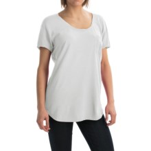 Agave Norina Stripe T-Shirt - Short Sleeve (For Women) in Bright White - Overstock
