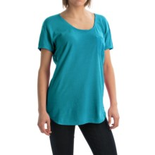 Agave Norina Stripe T-Shirt - Short Sleeve (For Women) in Tile Blue - Overstock