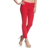 Agave Paloma Crop Pants - Skinny Leg (For Women) in Tango Red - Closeouts