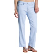 Agave Papillon Crop Pants - Wide Leg (For Women) in Blue Bay Stretch Light - Closeouts