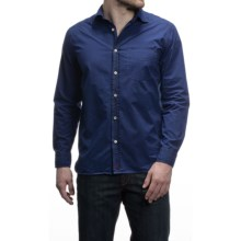 Agave Perfecto Cotton Poplin Shirt - Long Sleeve (For Men) in Blue Depths - Closeouts
