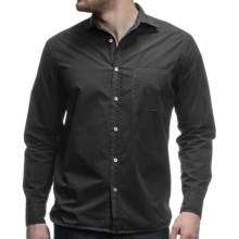 Agave Perfecto Cotton Poplin Shirt - Long Sleeve (For Men) in Jet Black - Closeouts