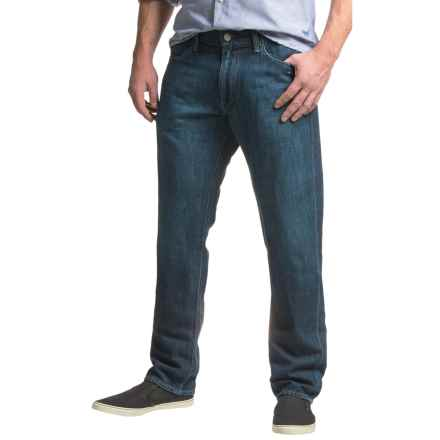 Agave Pragmatist Cotton-Linen Jeans - Straight Leg (For Men) in Pasta Point Linen - Closeouts