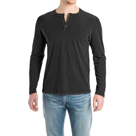 Agave Ryan Henley Shirt - Cotton Slub Jersey, Long Sleeve (For Men) in Black (Agave) - Closeouts