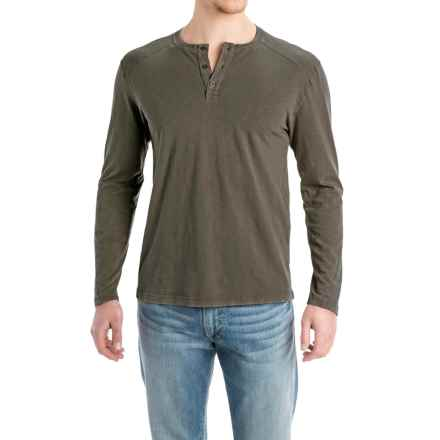 Agave Ryan Henley Shirt - Cotton Slub Jersey, Long Sleeve (For Men) in Tarmac (Agave) - Closeouts