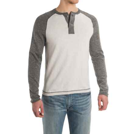 Agave Surfers Point Henley Shirt - Cotton, Long Sleeve (For Men) in Heather Gray (Agave) - Closeouts