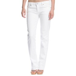 Agave Tomboy Jeans - Boyfriend Cut, Straight Leg (For Women) in White Wash Stretch