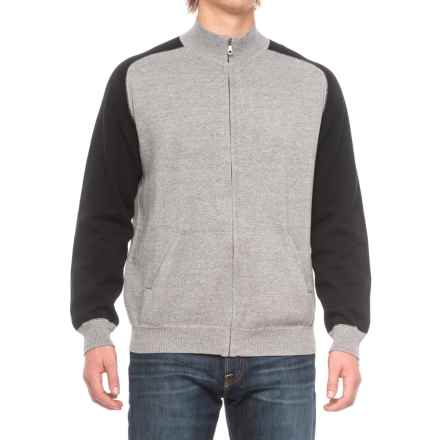Agave Vail Mock Neck Sweater - Full Zip (For Men) in Gray - Closeouts