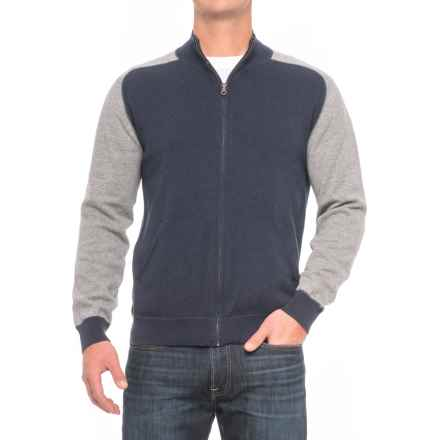 Agave Vail Mock Neck Sweater - Full Zip (For Men) in Navy - Closeouts