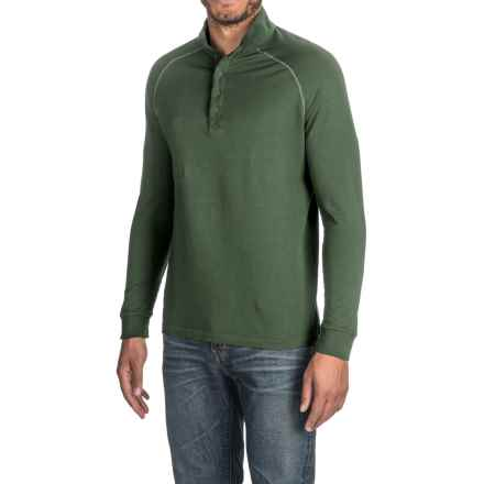 Agave Warren Henley Shirt - Supima® Cotton, Long Sleeve (For Men) in Ag-Rosin - Closeouts