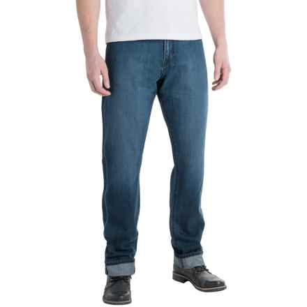 Agave Waterman Relaxed Fit Jeans - Straight Leg (For Men) in Sandspit Supima Med - Closeouts