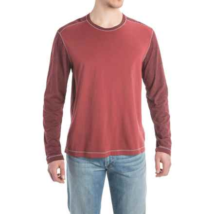 Agave Williams Cotton Blend Shirt - Crew Neck, Long Sleeve (For Men) in Rosewood (Agave) - Closeouts