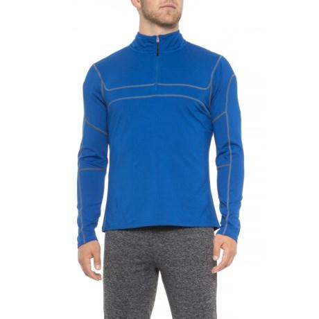 Image of Agility Shirt - Zip Neck, Long Sleeve (For Men)