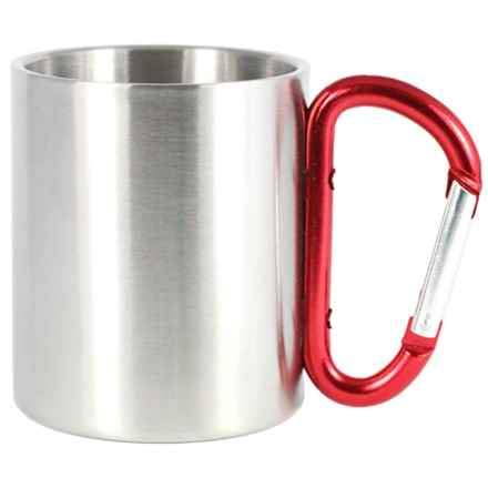 AGS Stainless Steel Carabiner Mug - 8 fl.oz. in Red - Closeouts