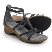 Ahnu Alta Leather Sandals (For Women) in Black - Closeouts