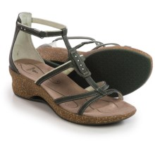 Ahnu Alta Leather Sandals (For Women) in Climbing Ivy - Closeouts
