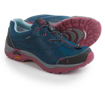 Ahnu Calaveras Hiking Shoes - Waterproof, Leather (For Women) in Blue Spell - Closeouts