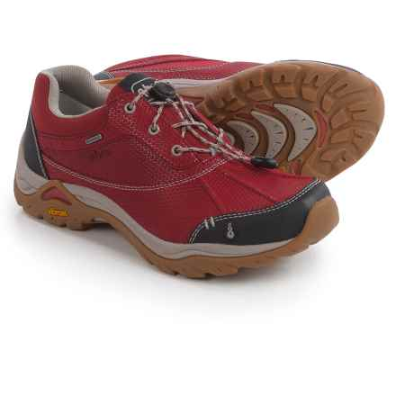 Ahnu Calaveras Hiking Shoes - Waterproof, Leather (For Women) in Garnet Red - Closeouts