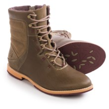 Ahnu Chenery Lace Boots - Leather (For Women) in Timber Wolf - Closeouts