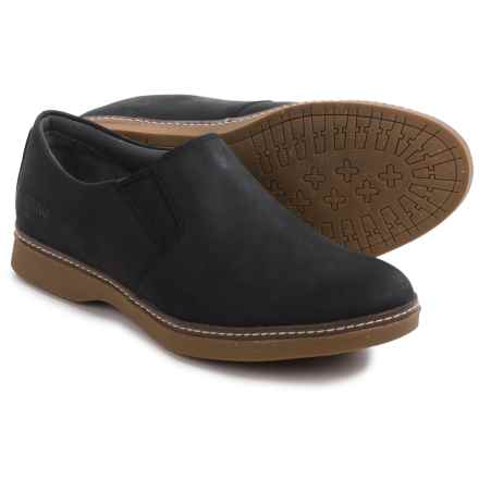 Ahnu Clay Nubuck Shoes - Slip-Ons (For Men) in Black - Closeouts
