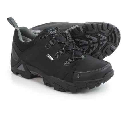 Ahnu Coburn Low Hiking Shoes - Waterproof, Nubuck (For Men) in Black - Closeouts