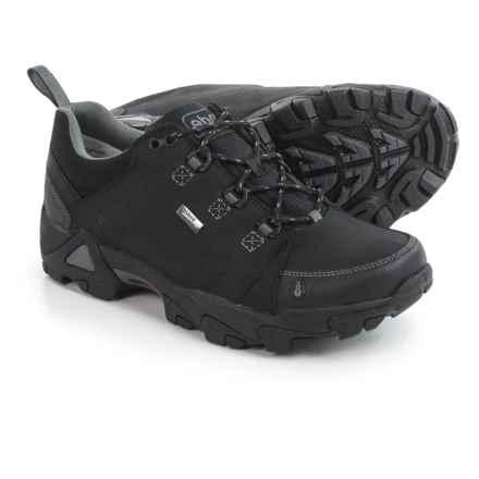 Ahnu Coburn Low Hiking Shoes - Waterproof, Nubuck (For Men) in Black - Closeouts