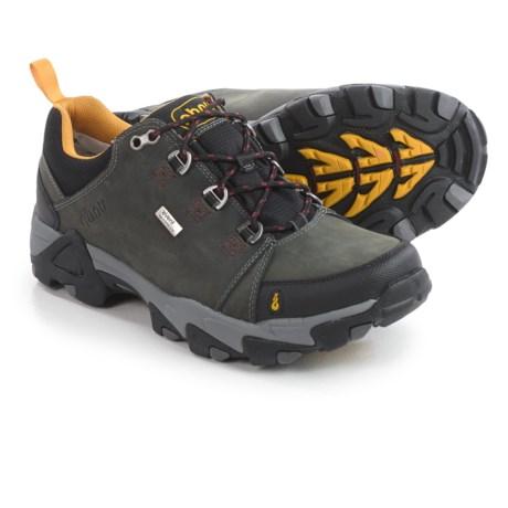 Ahnu Coburn Low Hiking Shoes - Waterproof, Nubuck (For Men) in Steel Grey