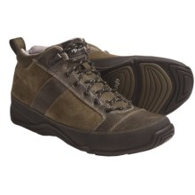 Ahnu Cole Mid Shoes - Leather (For Men) in Dark Olive - Closeouts