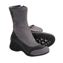 Ahnu Embarcadero Boots - Waterproof, Leather (For Women) in Rabbit Grey - Closeouts