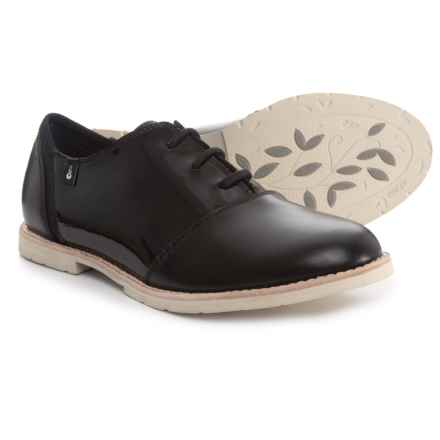 Ahnu Emery Shoes - Leather (For Women) in Black - Closeouts