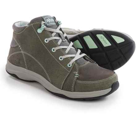 Ahnu Fairfax Shoes - Waterproof, Leather (For Women) in Charcoal Grey - Closeouts