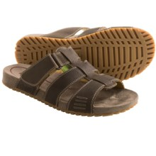 Ahnu Fisher Sandals - Leather, Slip Ons (For Men) in Tannin - Closeouts