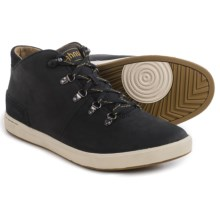 Ahnu Fulton Mid Leather Sneakers (For Men) in Black - Closeouts