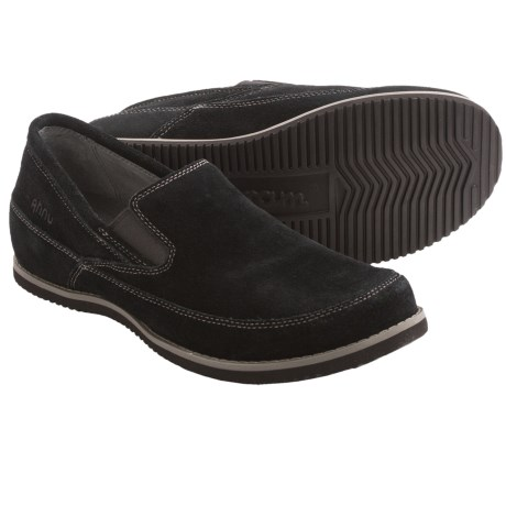 Ahnu Jack II Shoes - Suede, Slip-Ons (For Men) in Black