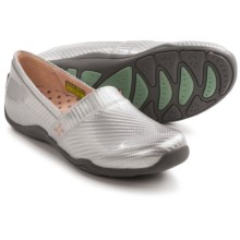 Ahnu Jackie Patent Shoes - Slip-Ons (For Women) in Silver - Closeouts