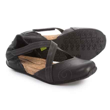 Ahnu Latitude Flat Mary Janes - Leather (For Women) in Black - Closeouts