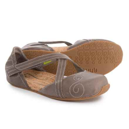 Ahnu Latitude Flat Mary Janes - Leather (For Women) in Mesa Taupe - Closeouts