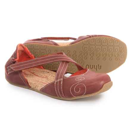 Ahnu Latitude Flat Mary Janes - Leather (For Women) in Red Stone - Closeouts